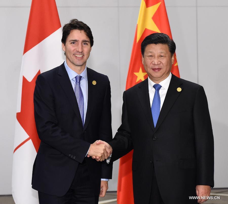 Си Цзиньпин встретился с премьер-министром Канады Дж.Трюдо