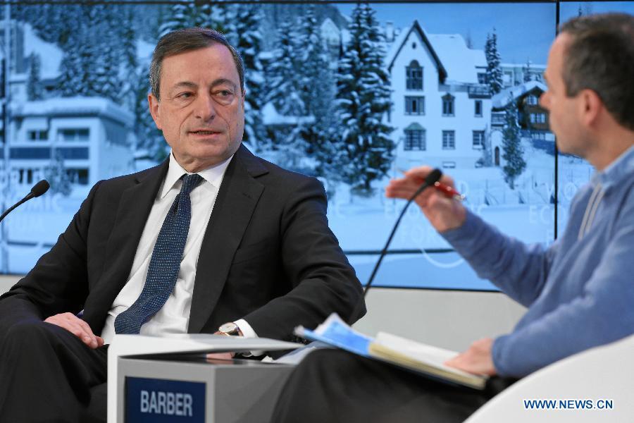 Экономика еврозоны будет в дальнейшем возрождаться - президент ЕЦБ Марио Драги