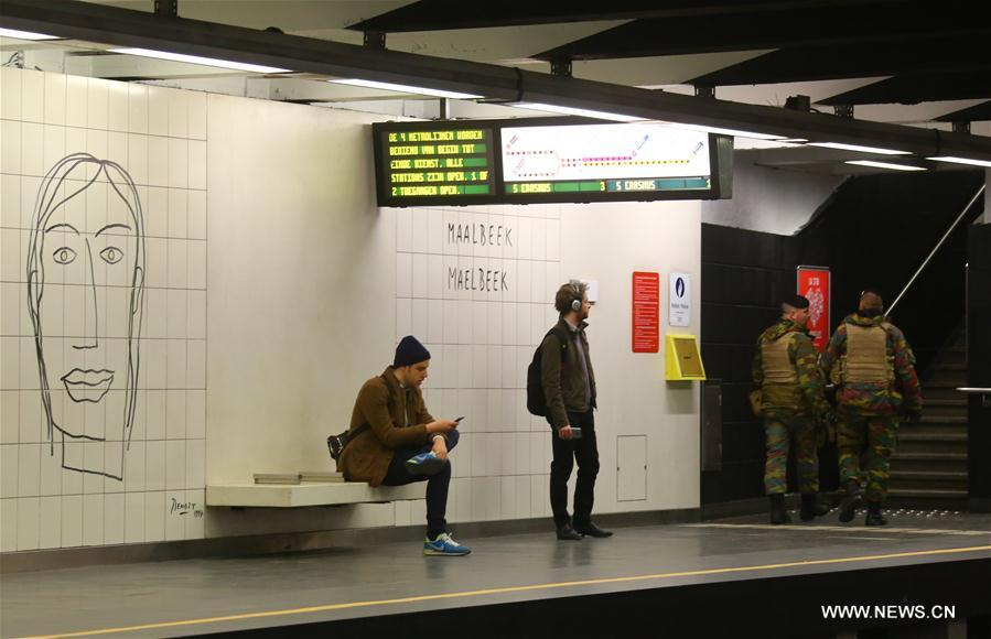 (国际)(4)布鲁塞尔遭袭地铁站重新开放
