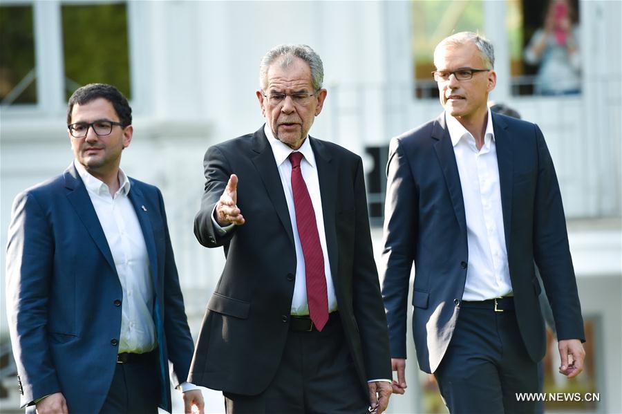 (国际)(3)中左立场候选人范德贝伦当选奥地利新总统