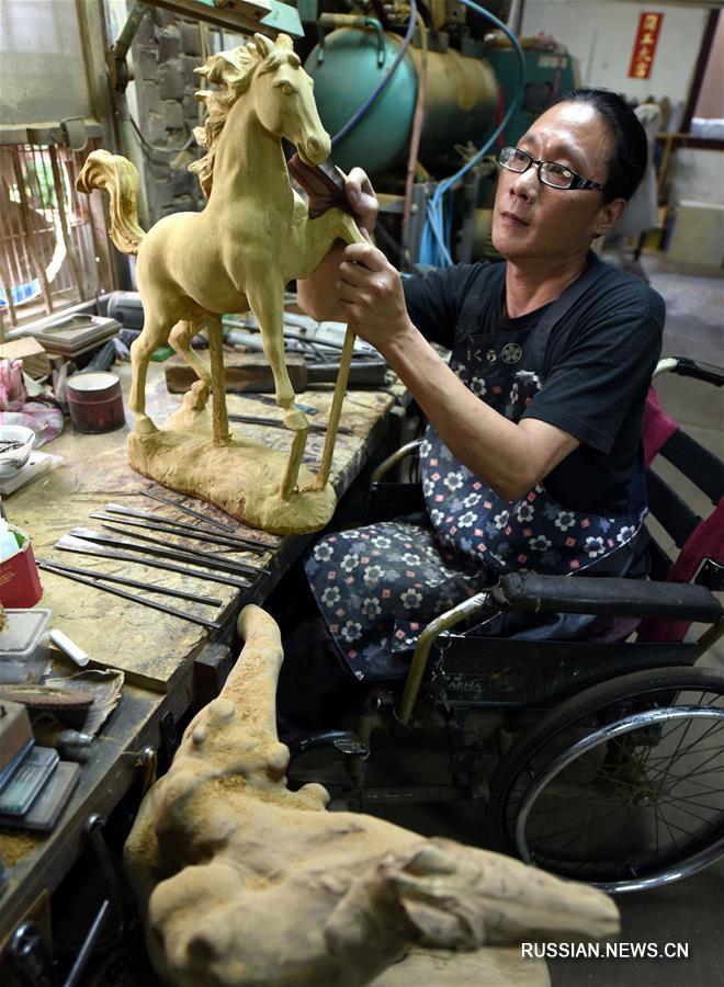 Тайваньский скульптур Линь Чжэнфа