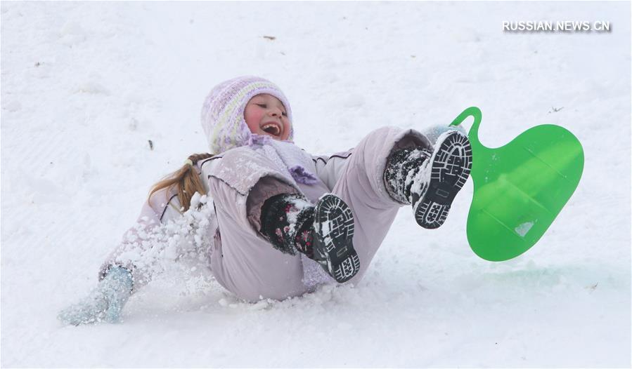 """Всемирный день снега в минском горнолыжном центре """"Солнечная долина"""""""