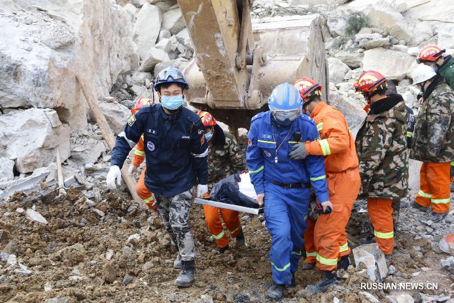В «Поднебесной» из-за оползня под завалами оказались 14 человек
