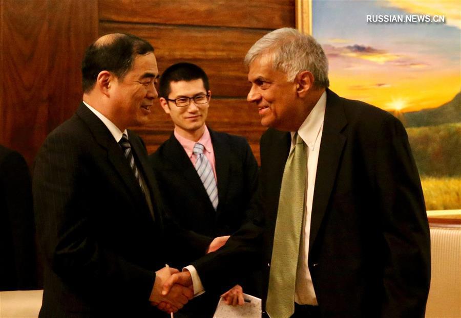 (XHDW)斯里兰卡总理会见中国外交部部长助理孔铉佑
