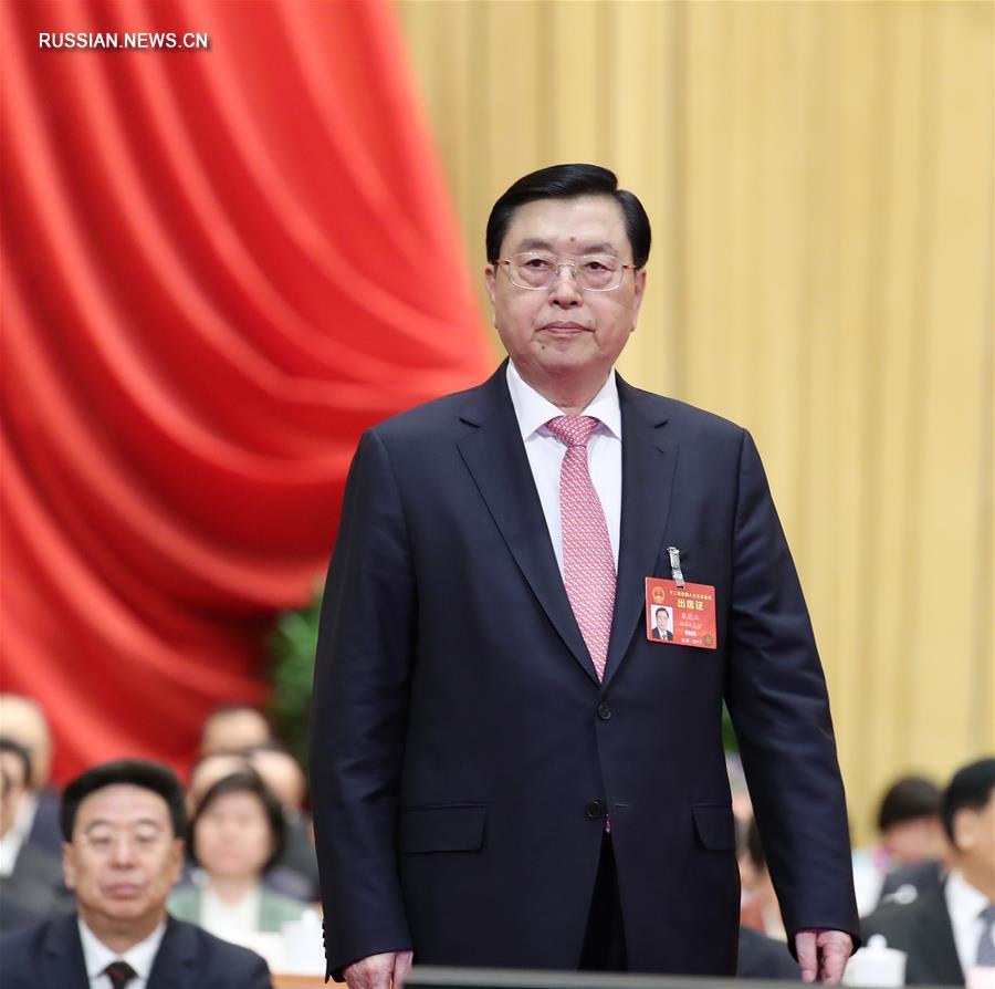/Сессии ВСНП и ВК НПКСК/ Чжан Дэцзян доложил о работе ПК ВСНП