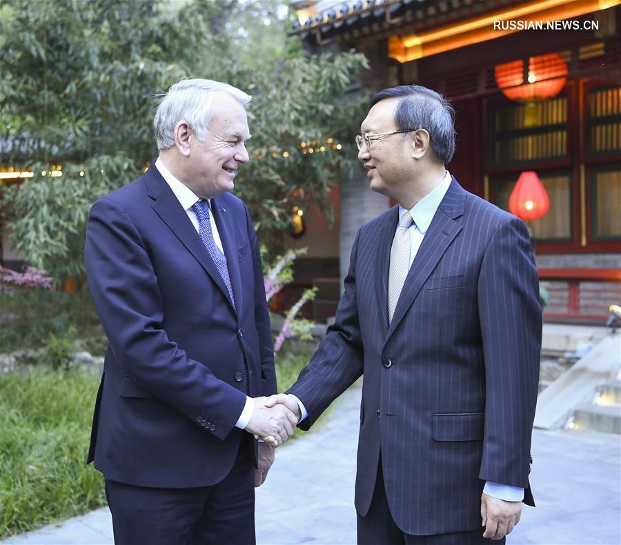 (XHDW)杨洁篪会见法国外长艾罗