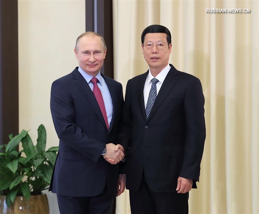 (时政)张高丽会见普京总统