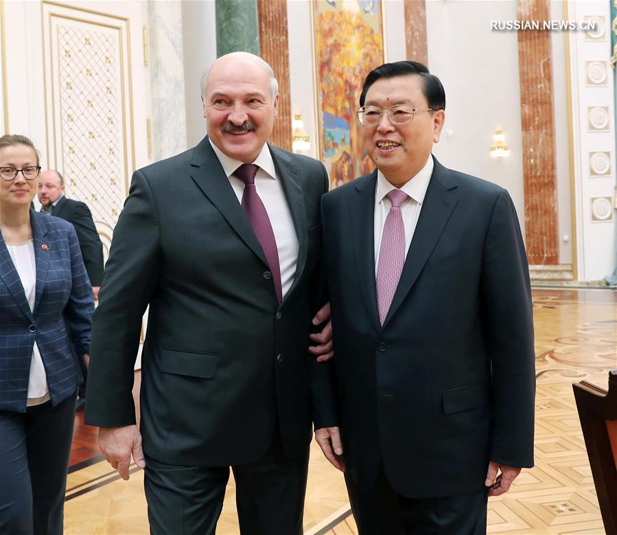 (时政)张德江对白俄罗斯进行正式友好访问