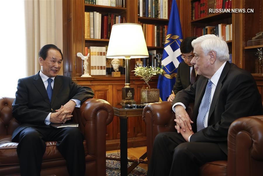 """(国际)(1)希腊总统说""""一带一路""""高峰论坛具有全球性意义"""