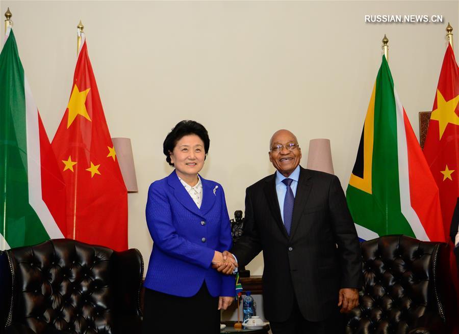 (XHDW)南非总统祖马会见刘延东