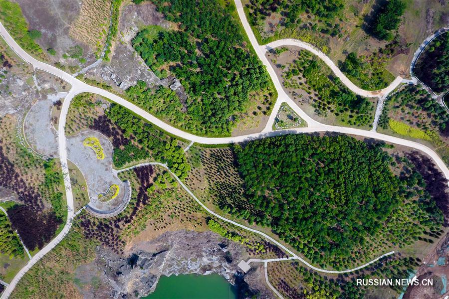 Геологический парк Вонюшань в окрестностях Цзинаня