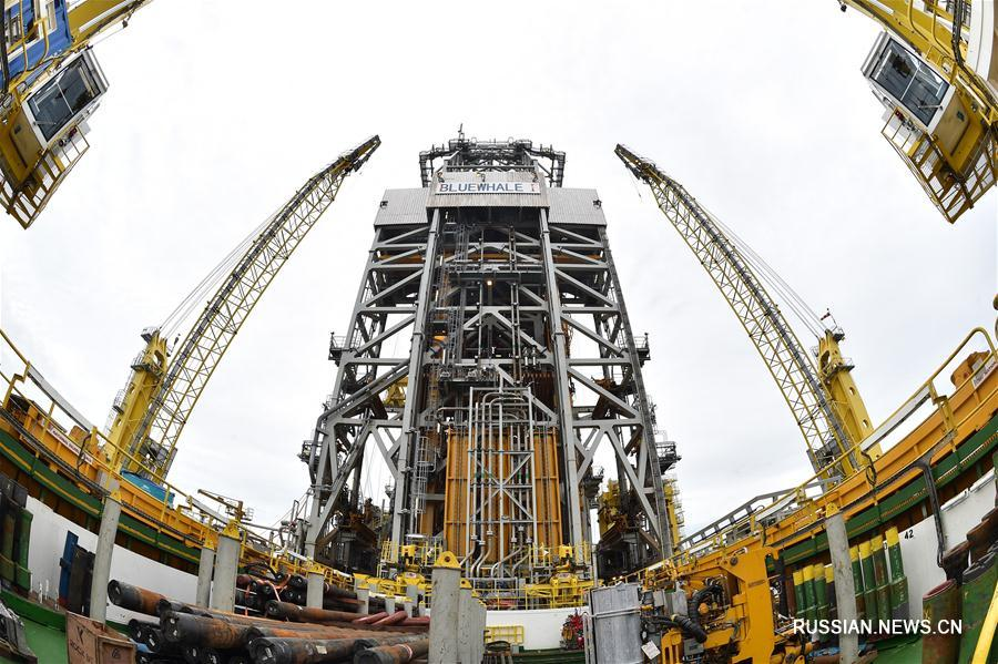 Китай успешно провел первую опытную добычу гидратов природного газа в морской акватории