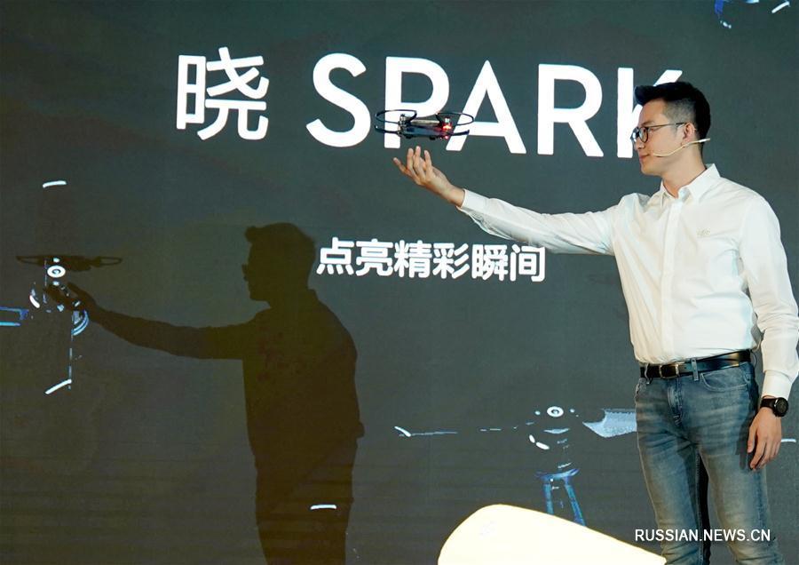 В Пекине представили миниатюрный дрон Spark