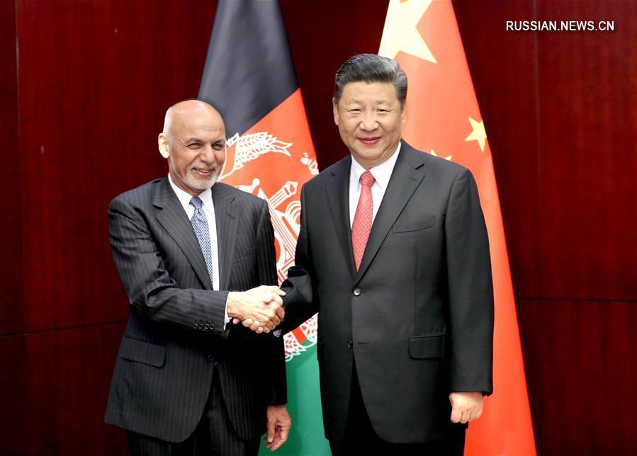 (时政)习近平会见阿富汗总统加尼