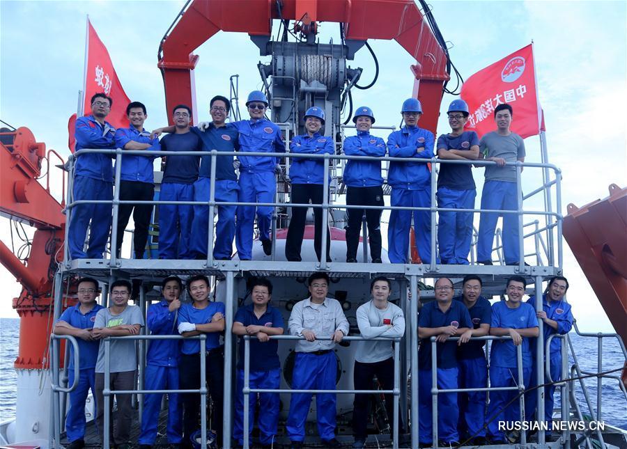 """Батискаф """"Цзяолун"""" совершил последнее погружение в рамках 38-й китайской океанологической  экспедиции"""