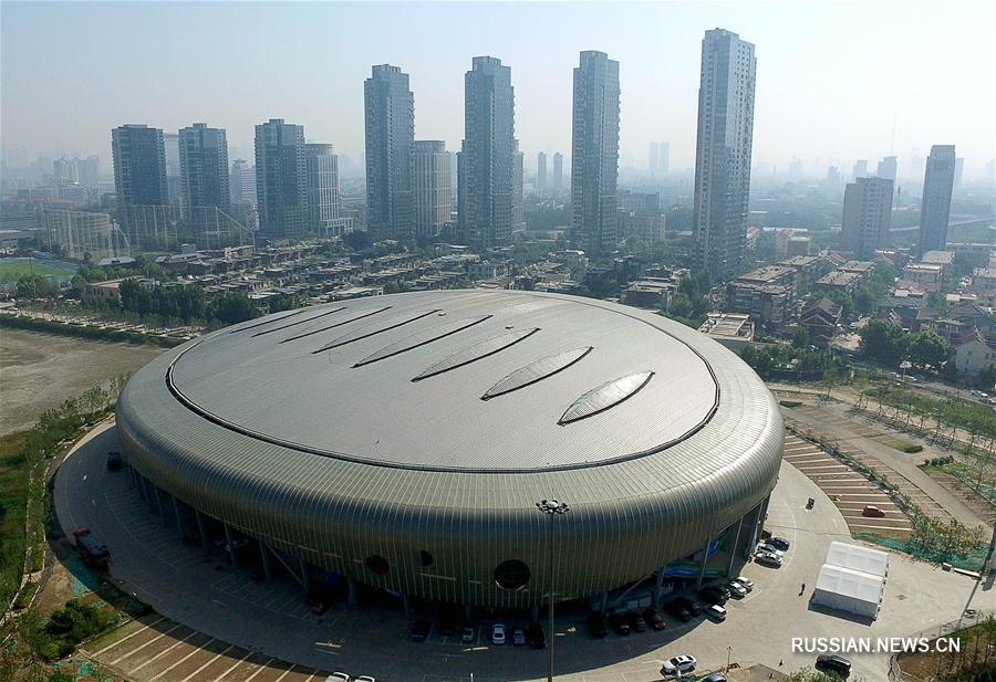 Арены 13-х Всекитайских игр -- Дворец водных видов спорта Олимпийского центра в Тяньцзине