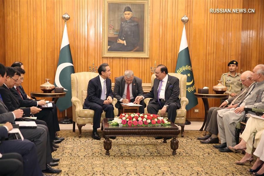 (XHDW)巴基斯坦总统侯赛因会见王毅