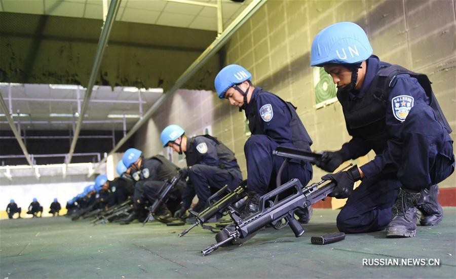 Вторая группа бойцов полицейского миротворческого отряда постоянной готовности МОБ КНР успешно прошла аттестацию ООН