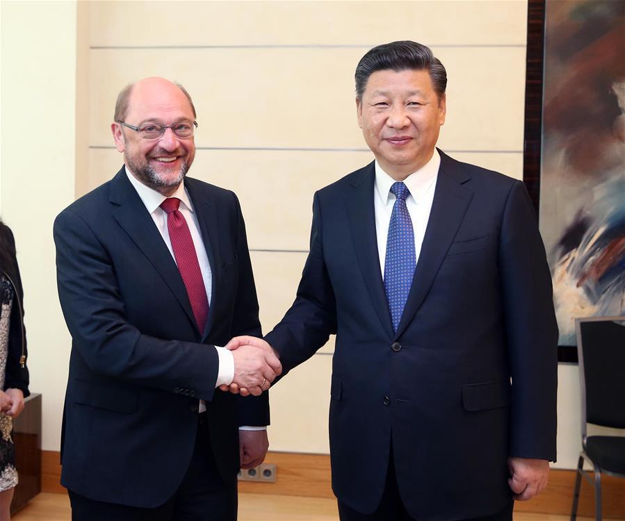 (时政)习近平会见德国社会民主党主席舒尔茨