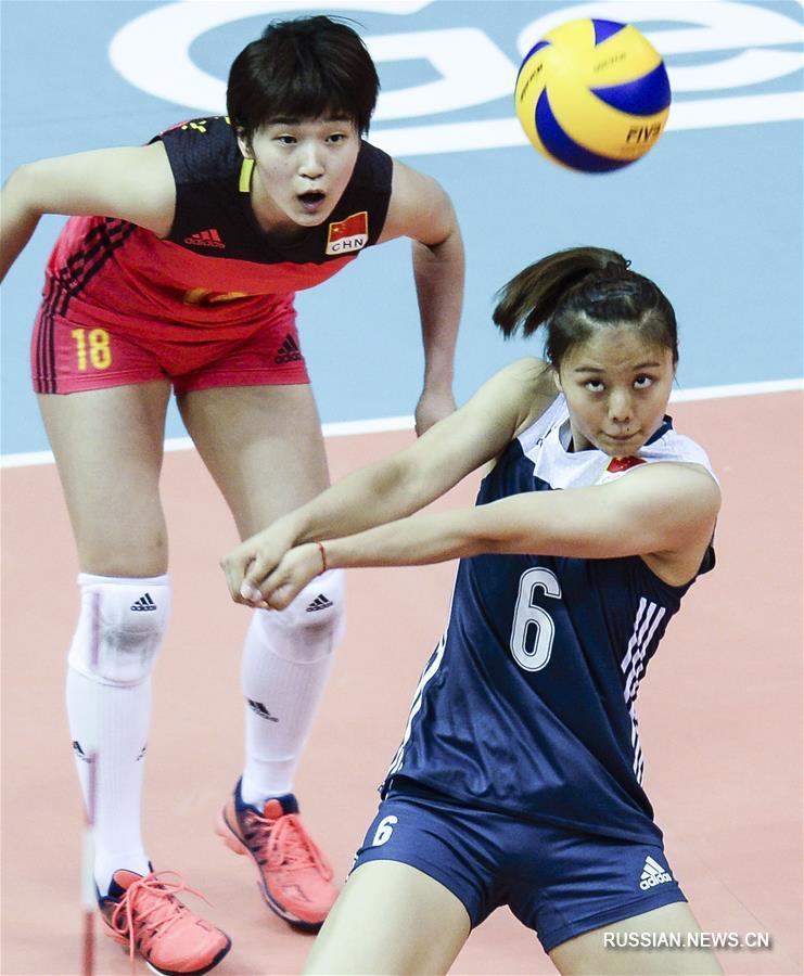 Волейбол -- Гран-при среди женских команд: сборная Китая заняла второе место в Куньшане