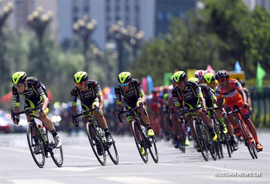 """Велоспорт -- 16-я международная шоссейная велогонка """"Тур озера Цинхай"""": обзор 2-го этапа"""