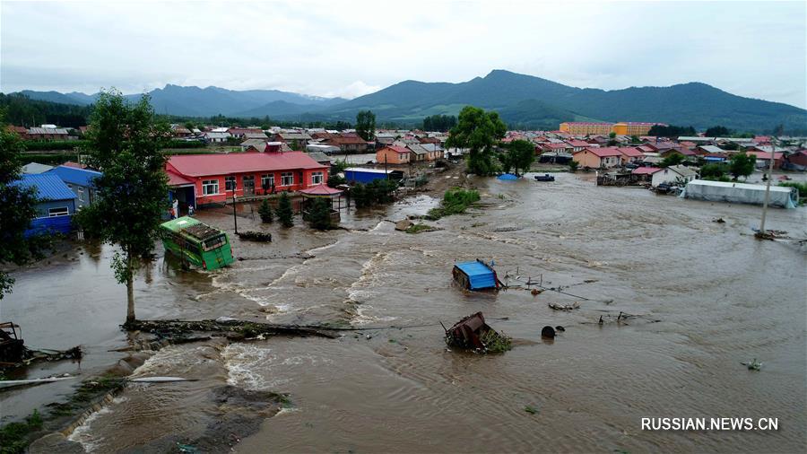 В провинции Хэйлунцзян организована эвакуация нескольких тысяч человек из-за проливных  дождей