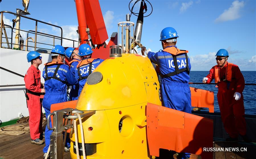 """Китайский подводный робот """"Таньсо"""" совершил первое тестовое погружение в Южно-Китайском море"""