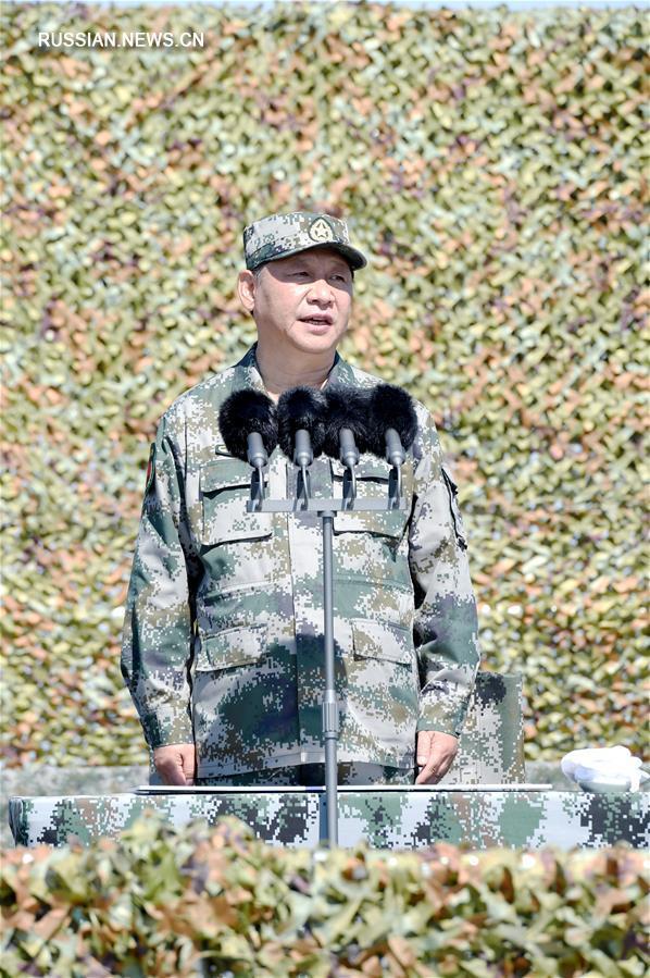 (时政)(2)庆祝中国人民解放军建军90周年阅兵在朱日和联合训练基地隆重举行 习近平检阅部队并发表重要讲话