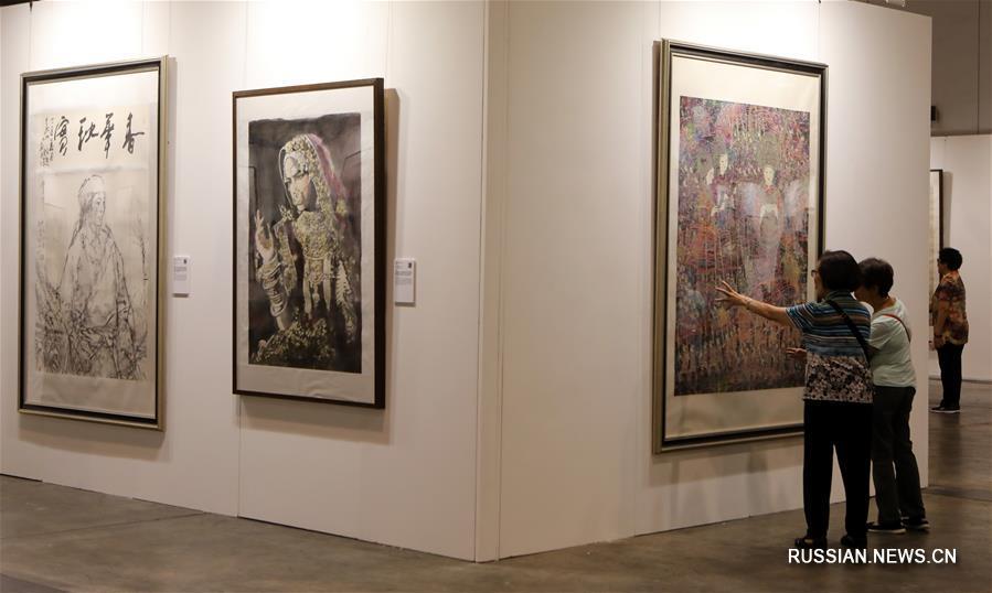 """Выставка """"Мировые сокровища живописи тушью"""" закрылась в Сянгане"""