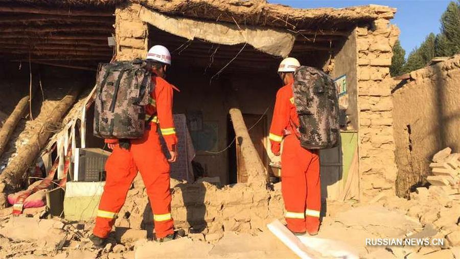 В Синьцзяне произошло землетрясение магнитудой 6,6