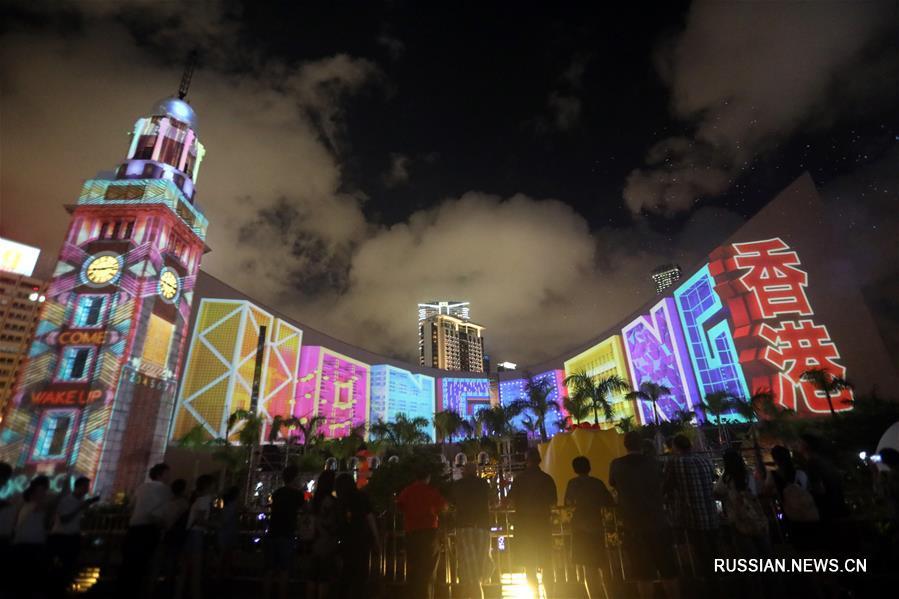 Световое 3D-шоу вновь озарит бухту Виктория в Сянгане