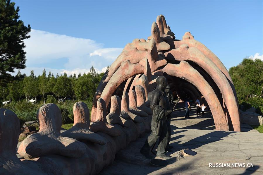 Цзяиньский национальный геопарк динозавров в провинции Хэйлунцзян