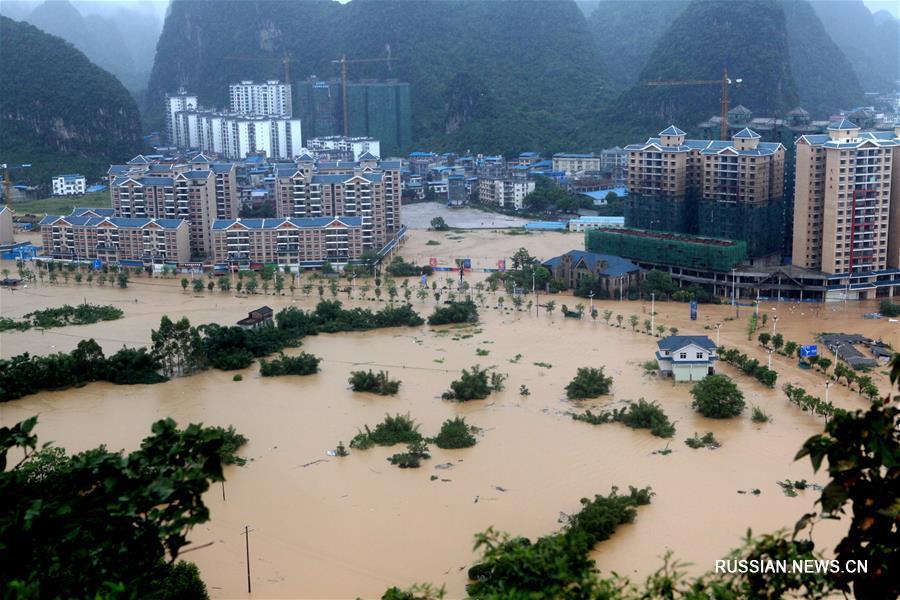 Уезд Жуншуй под ударом наводнения