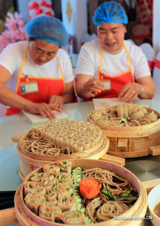 Конкурс по приготовлению овсяной лапши в уезде Учуань
