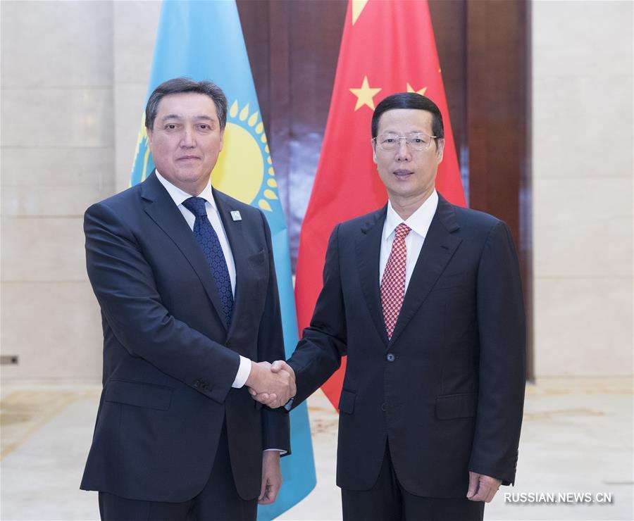 Чжан Гаоли встретился с первым вице-премьером Казахстана А. Маминым и принял участие в китайско-казахстанском форуме по региональному сотрудничеству