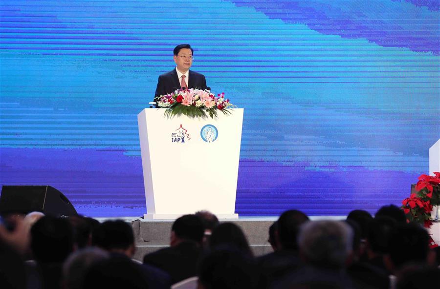 Чжан Дэцзян выступил на церемонии открытия 22-й ежегодной конференции МАП