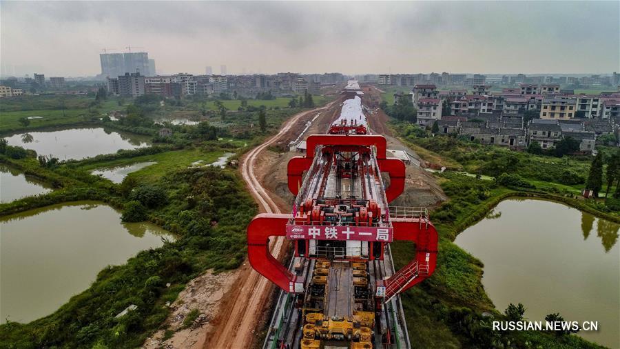 Строительство ВЖМ Наньчан -- Ганьчжоу идет полным ходом