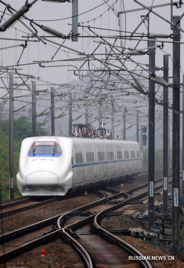 Открылось движение по скоростной железной дороге Ухань -- Цзюцзян
