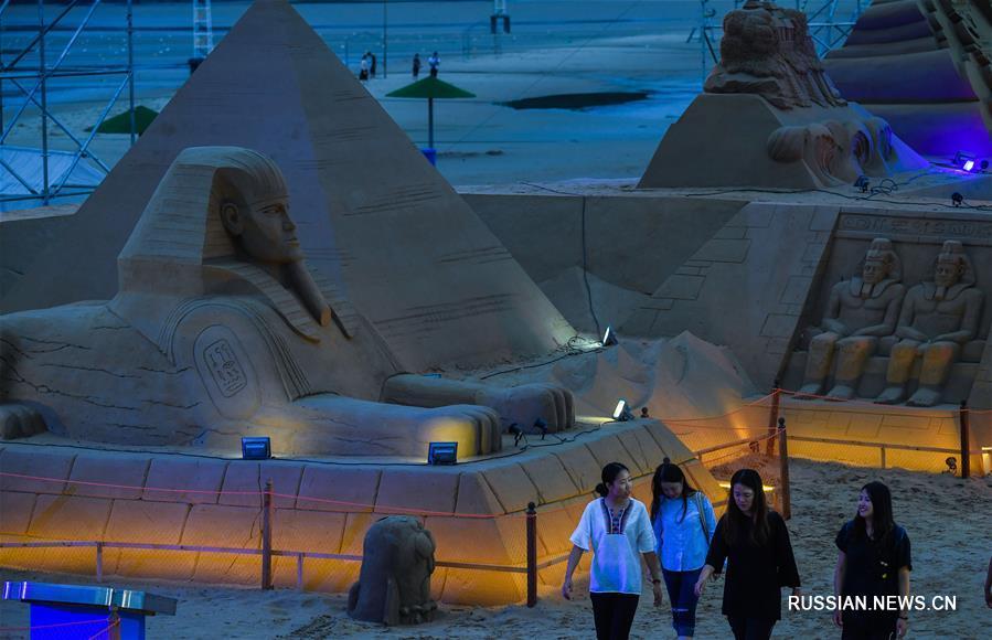 Международный фестиваль песчаных скульптур открылся в Чжоушане