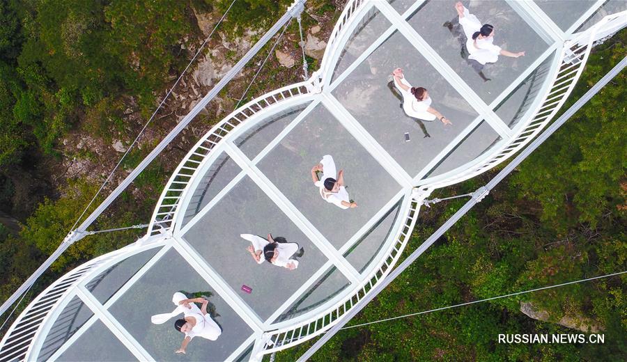 В провинции Шаньдун открыли новый стеклянный мост