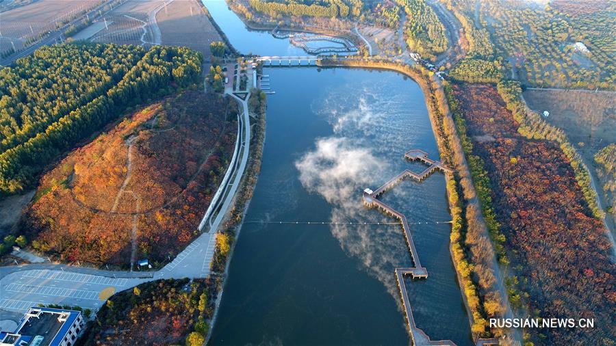 Природный парк на месте заброшенного участка реки в провинции Хэбэй