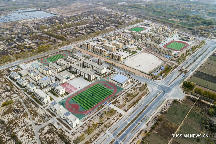 Виды сверху Кашгарской зоны экономического и технологического развития