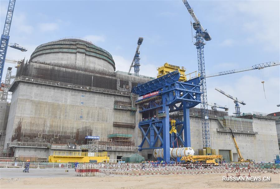 """На Фуцинской АЭС началась установка парогенератора ZH-65 для ядерного реактора третьего поколения """"Хуалун-1"""""""