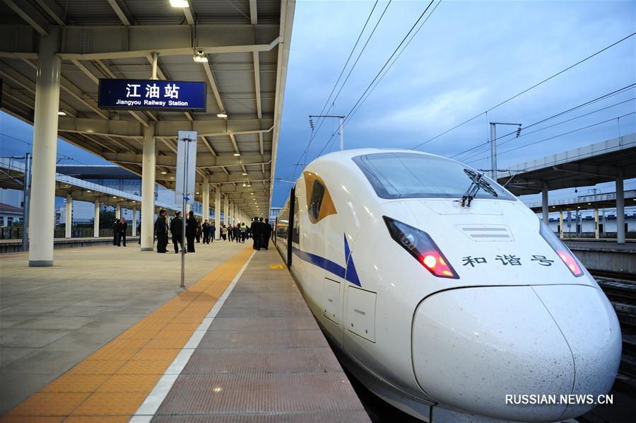 Началась инспекционная проверка высокоскоростной железнодорожной магистрали Сиань-Чэнду