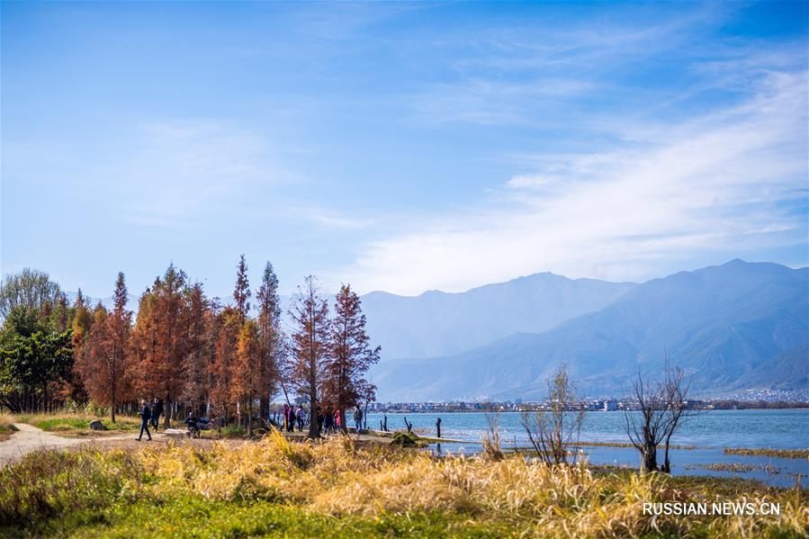 Пейзажи парка Хайшэ в провинции Юньнань