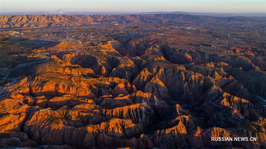 На Лессовом плато обнаружена крупнейшая в Китае ландшафтная зона с рельефом данься