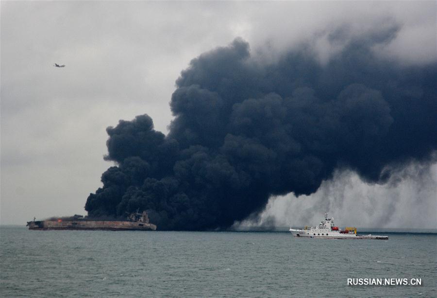 В Восточно-Китайском море произошло столкновение танкера и сухогруза