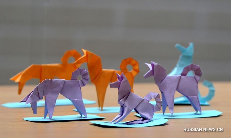 Бумажный символ Нового года по лунному календарю от мастера оригами из Сучжоу