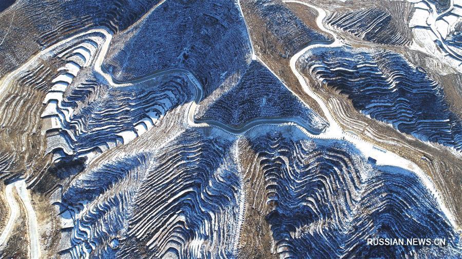 Снег на террасных полях уезда Шэсянь