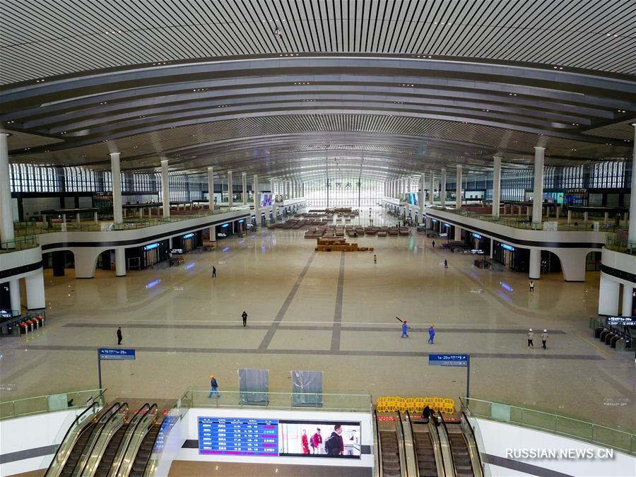 Завершен первый этап строительства Западного вокзала города Чунцин